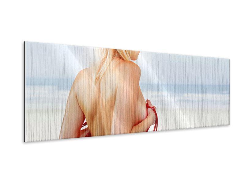 Metallic-Bild Panorama Rücken einer Schönheit