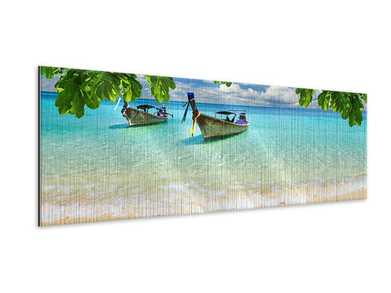 Metallic-Bild Panorama Ein Blick auf das Meer