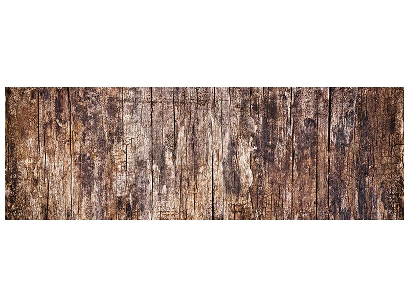 Metallic-Bild Panorama Retro-Holz