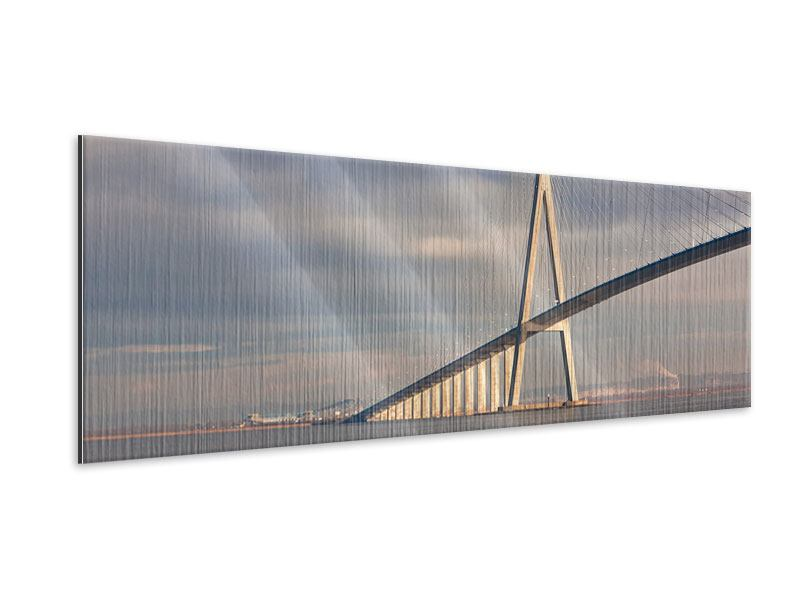 Metallic-Bild Panorama Pont de Normandie
