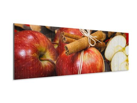 Metallic-Bild Panorama Äpfel