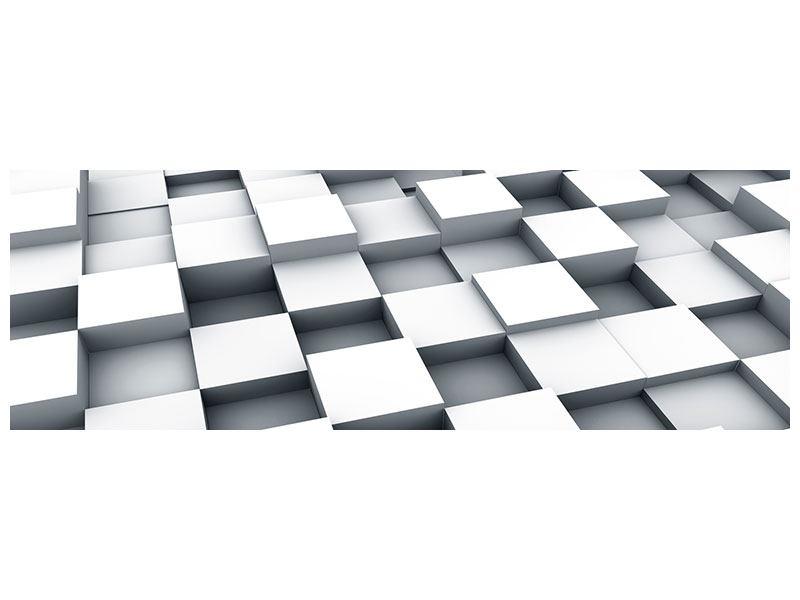 Metallic-Bild Panorama 3D-Kubus