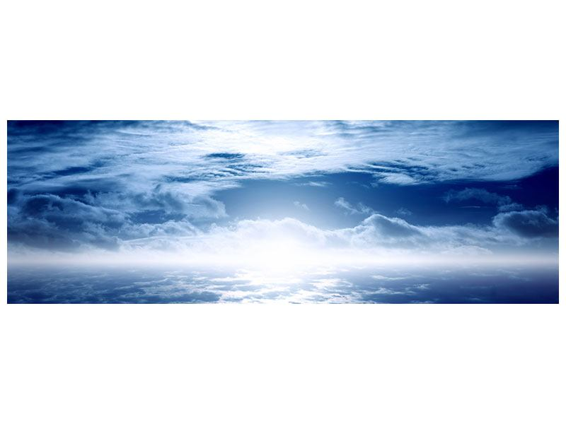 Metallic-Bild Panorama Mystischer Himmel