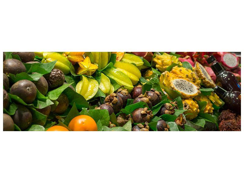 Metallic-Bild Panorama Früchte