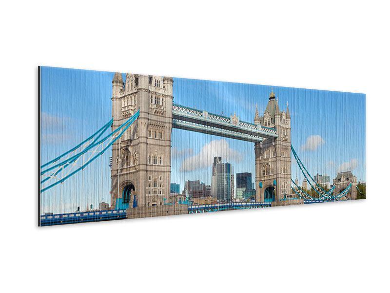 Metallic-Bild Panorama Die Tower Bridge