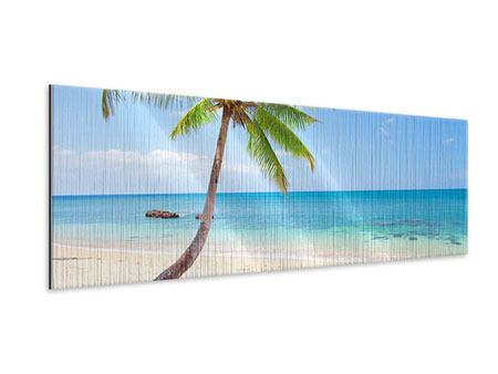 Metallic-Bild Panorama Die eigene Insel