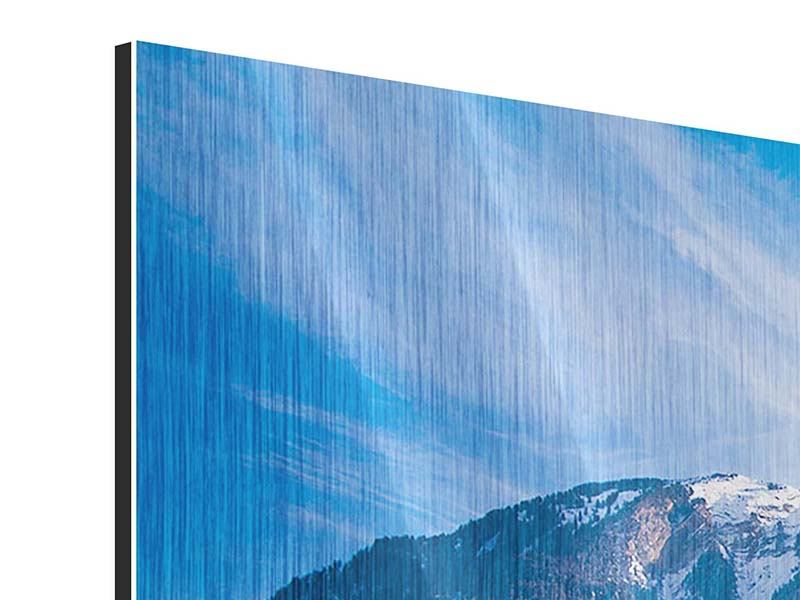 Metallic-Bild Panorama Winterwunderland
