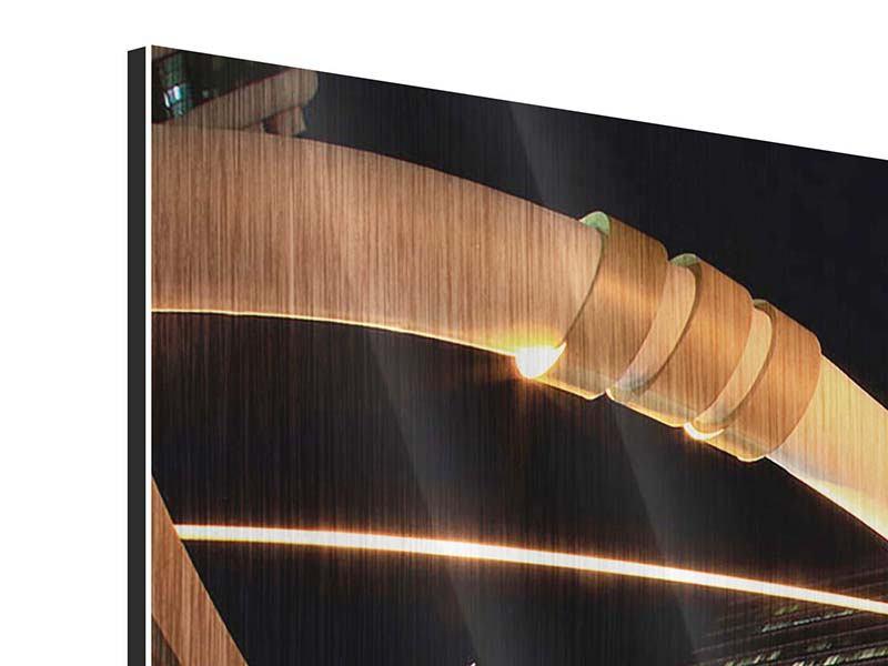 Metallic-Bild Panorama Avantgardistische Brücke