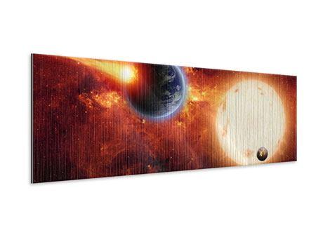Metallic-Bild Panorama Der Kosmos