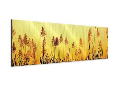 Metallic-Bild Panorama Die Blumen des Feldes