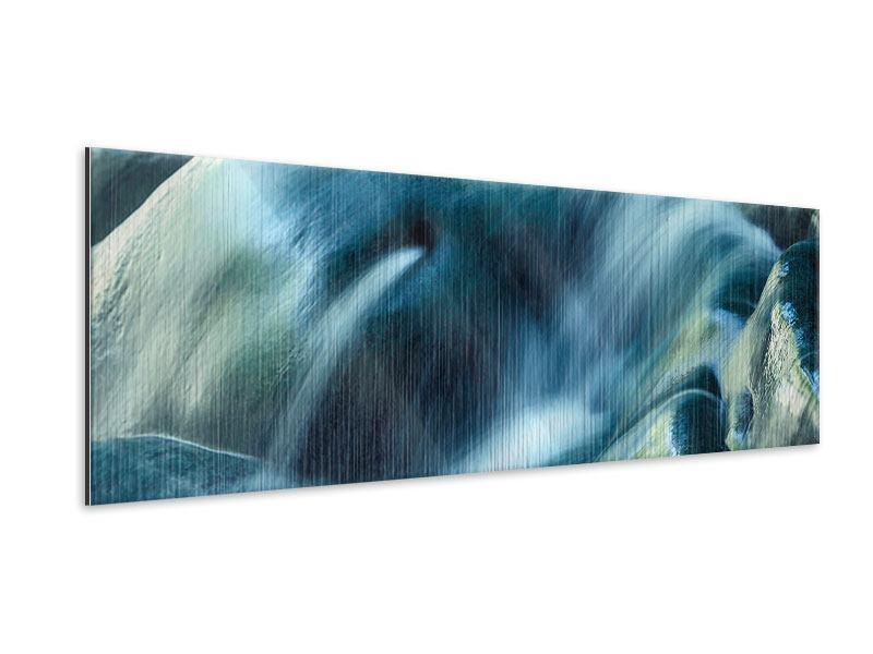 Metallic-Bild Panorama Das Fliessende Wasser