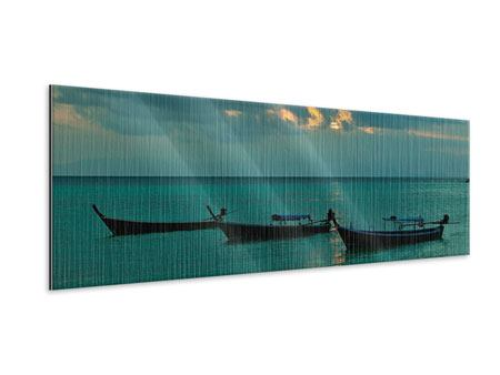 Metallic-Bild Panorama Ozean