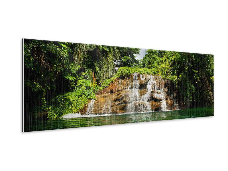 Metallic-Bild Panorama Lagune