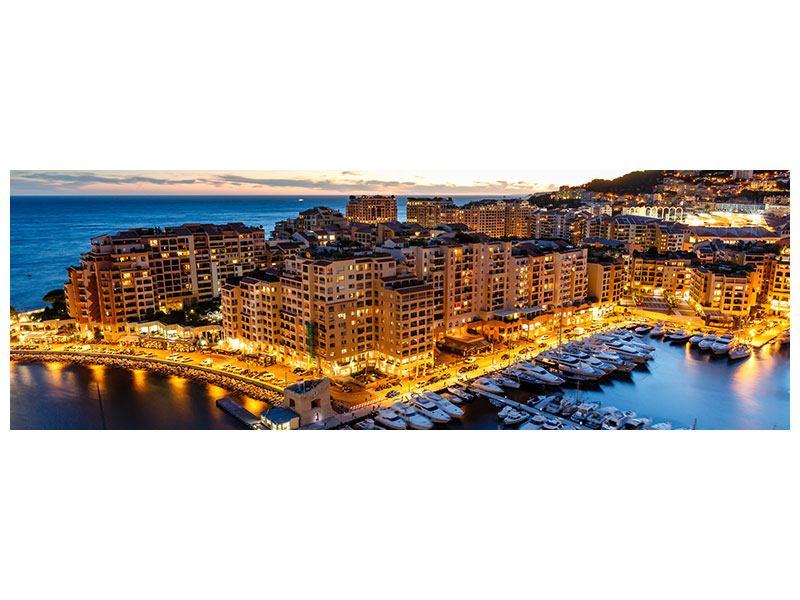 Metallic-Bild Panorama Monaco