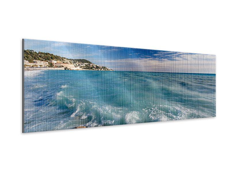 Metallic-Bild Panorama Cote D`Azur