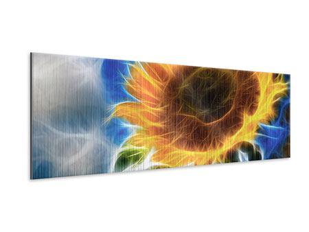 Metallic-Bild Panorama Der Sonne entgegen