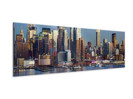 Metallic-Bild Panorama Skyline Midtown Manhattan