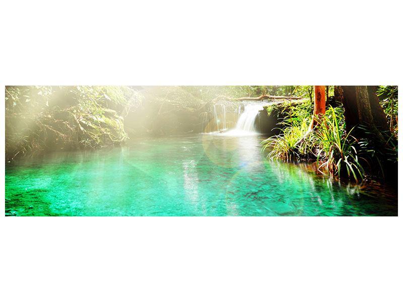 Metallic-Bild Panorama Die grüne Lagune
