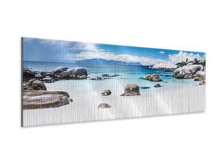 Metallic-Bild Panorama Inselfeeling