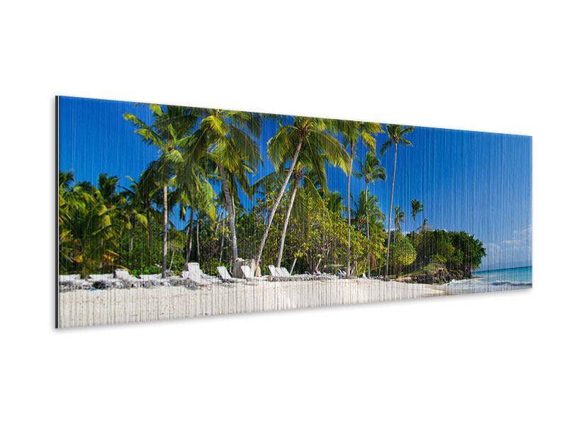 Metallic-Bild Panorama Aloha
