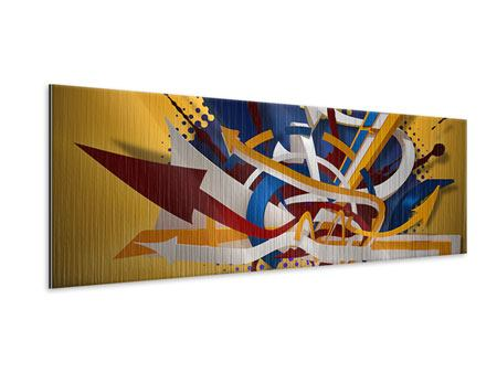 Metallic-Bild Panorama Graffiti Art