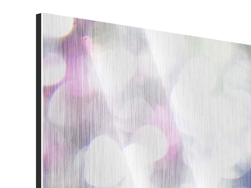 Panoramic Metallic Print Abstract Light
