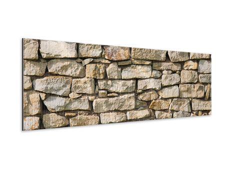 Metallic-Bild Panorama Natursteine