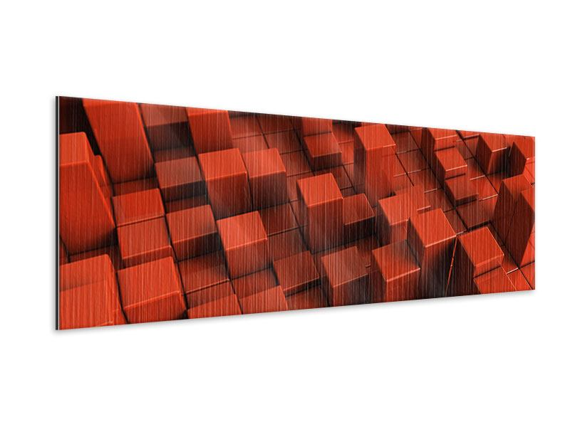 Metallic-Bild Panorama 3D-Rechtkant