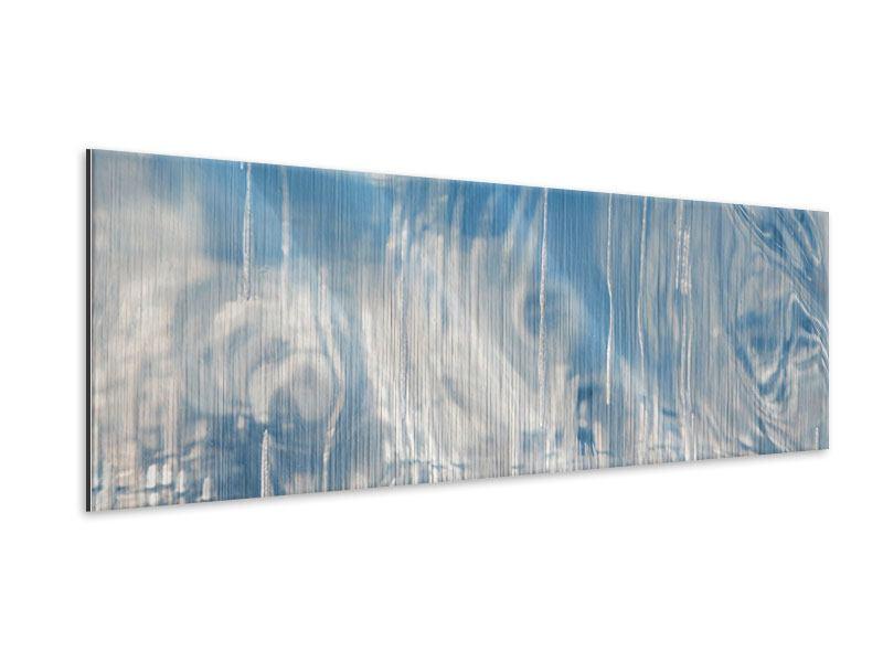 Metallic-Bild Panorama Das Eis des Baikalsees
