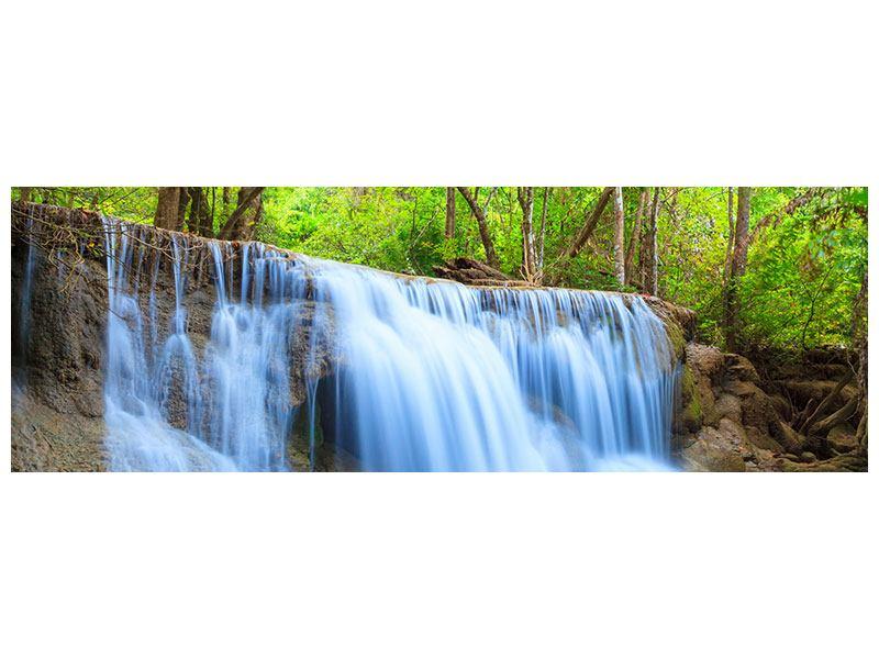 Metallic-Bild Panorama Wasserfall Si Nakharin