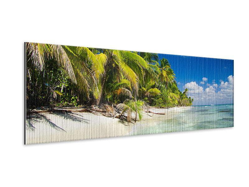 Metallic-Bild Panorama Die einsame Insel