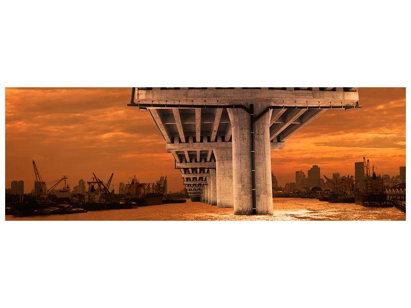 Metallic-Bild Panorama Die Brücke