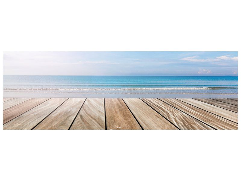 Metallic-Bild Panorama Das schöne Strandhaus