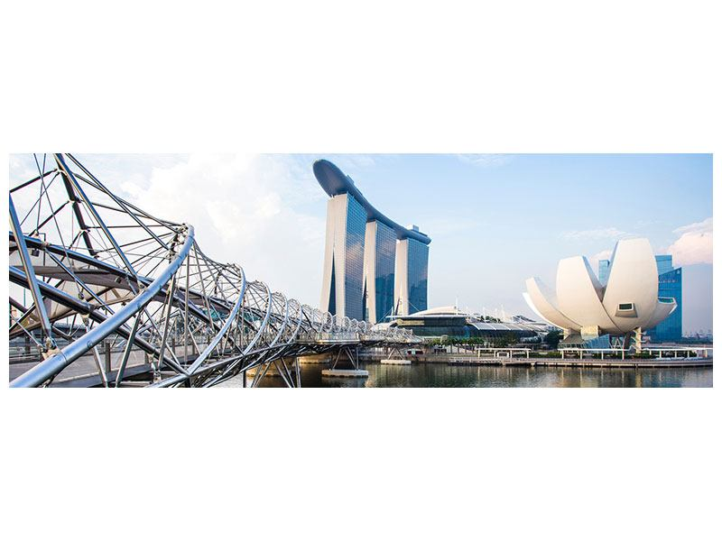 Metallic-Bild Panorama Singapur