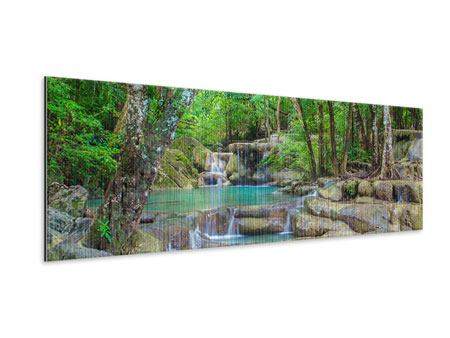 Metallic-Bild Panorama Wasserspektakel