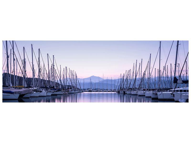 Metallic-Bild Panorama Yachthafen