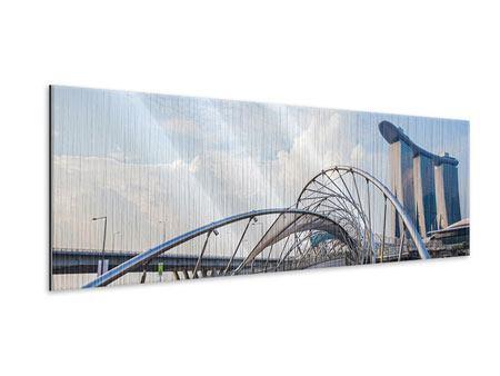 Metallic-Bild Panorama Helix-Brücke