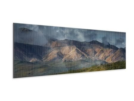 Metallic-Bild Panorama Silberstreifen