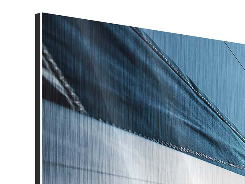 Metallic-Bild Panorama Segelschiff Close Up
