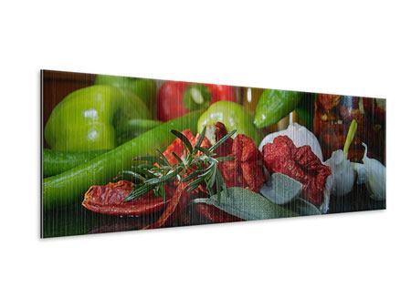Metallic-Bild Panorama Mediterranes Gemüse