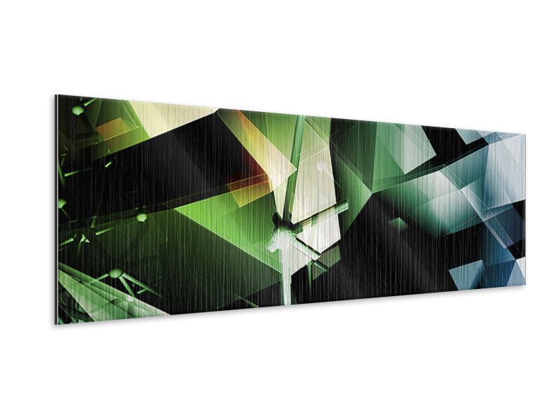 Metallic-Bild Panorama 3D-Polygon