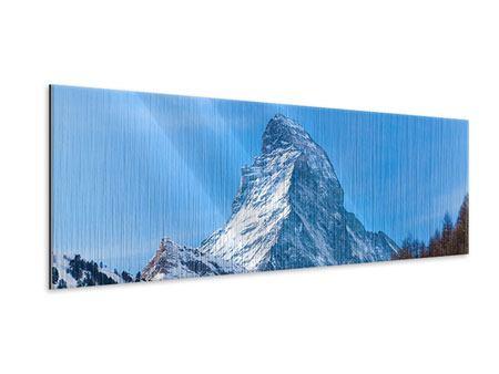 Metallic-Bild Panorama Das majestätische Matterhorn