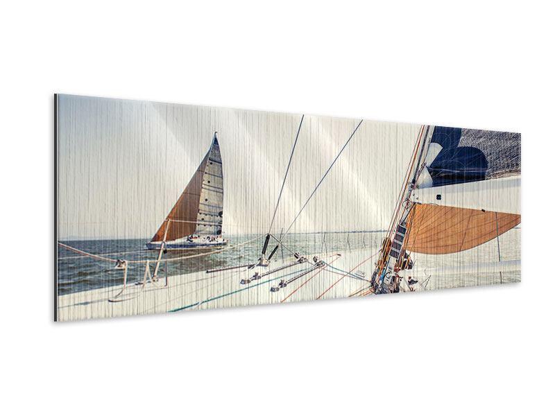 Metallic-Bild Panorama Segelyacht