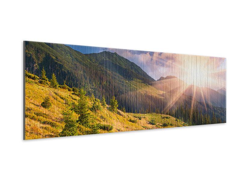 Metallic-Bild Panorama Herbstanfang