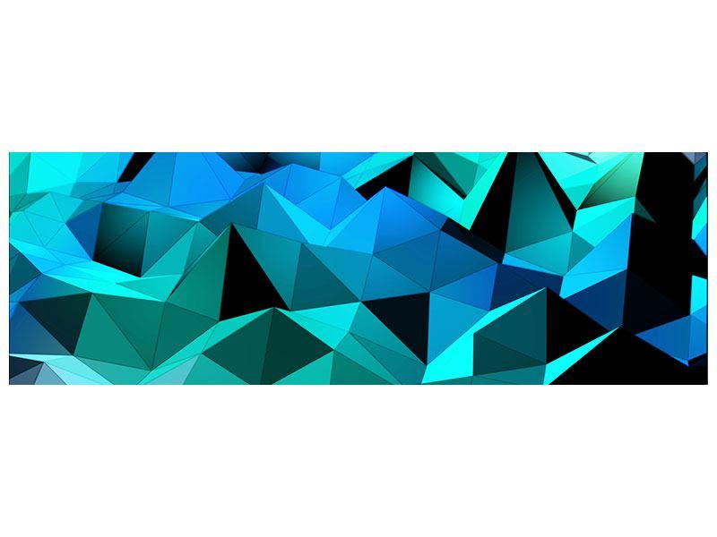 Metallic-Bild Panorama 3D-Diamonds