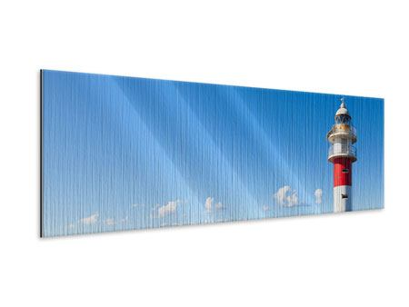 Metallic-Bild Panorama Leuchtturm in Punta Teno