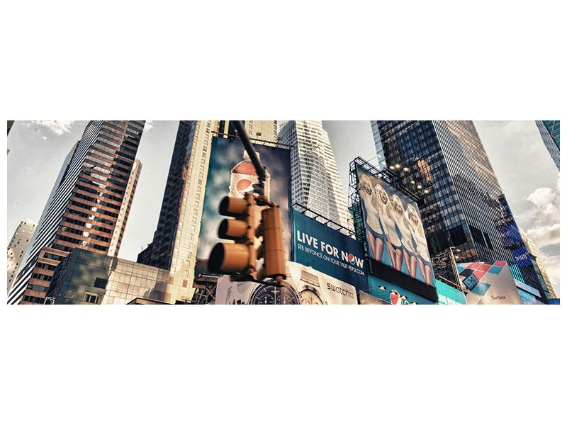 Metallic-Bild Panorama Times Square