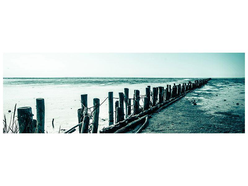 Metallic-Bild Panorama Das Wattenmeer