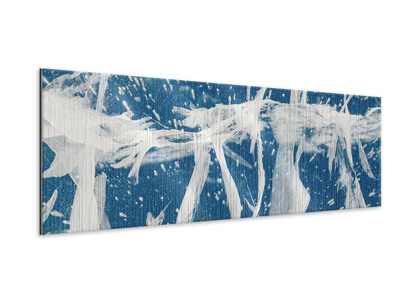 Metallic-Bild Panorama Eiskristalle