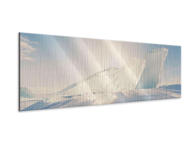 Metallic-Bild Panorama Eislandschaft